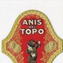 Etiquetas antiguas: JOSE GERMA - SABADELL- ***ANIS EL TOPO***. Lote 16671666