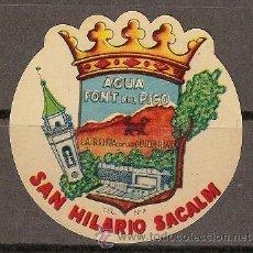 Alte Etiketten - 0245 - ETIQUETA DEL AIGUA DE LA FONT DEL PICO. SANT HILARI SACALM - 25299611