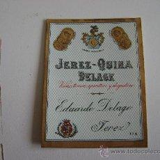 Etiquetas antiguas: JEREZ-QUINA DELAGE.E082. Lote 194759778
