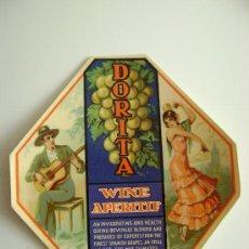 Etiquetas antiguas: WINE APERITIF.DORITA.E093. Lote 194867868