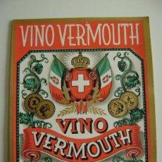 Etiquetas antiguas: VINO VERMOUTH.E123. Lote 194866620