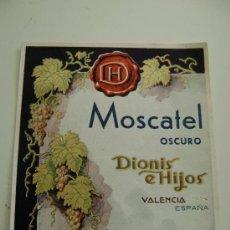 Etiquetas antiguas: MOSCATEL OSCURO.E129. Lote 194866823