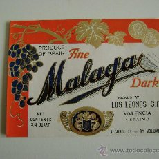 Etiquetas antiguas: FINE MALAGA.E138. Lote 194867420