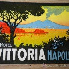 Etiquetas antiguas: ANTIGUA ETIQUETA DE HOTEL , GRAND HOTEL VITTORIA NAPOLI . NAPOLES ITALIA. Lote 17550217