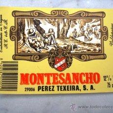 Etiquetas antiguas: ETIQUETA DE BOTELLA . Lote 17637452