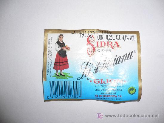 ETIQUETA DE SIDRA LA ASTURIANA (Coleccionismo - Etiquetas)