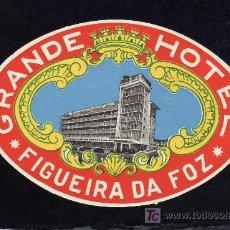 Etiquetas antiguas: ETIQUETA HOTEL - GRANDE HOTEL - FIGUEIRA DA FOZ - PORTUGAL.. Lote 26543928