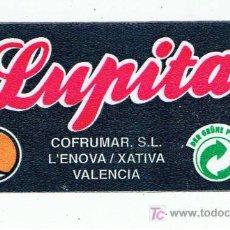 Etiquetas antiguas: ETIQUETA PARA BOLSAS DE NARANJAS LUPITA XATIVA L´ENOVA VALENCIA. Lote 254766770