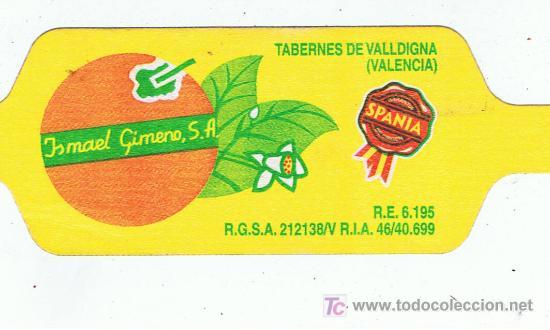 ETIQUETA PARA BOLSAS DE NARANJAS ISMAEL GIMENO TAVERNES DE LA VALLDIGNA VALENCIA (Coleccionismo - Etiquetas)
