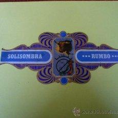 Etiquetas antiguas: VITOLAS SOL Y SOMBRA DE RUMBO. Lote 25746556