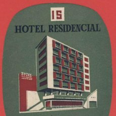 Etiquetas antiguas: ETIQUETA HOTEL -PORTUGAL-HOTEL INFANTE SANTO-LISBOA- -OVAL 95 MM -ILUSTRACION. Lote 27540863