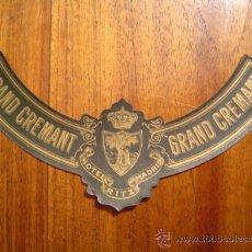 Etiquetas antiguas: COLLARIN GRAND CREMANT DEL HOTEL RITZ DE MADRID - EN . Lote 24750472