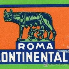 Etiquetas antiguas: ETIQUETA HOTEL - HOTEL CONTINENTALE - ROMA - ITALIA. . Lote 26587356