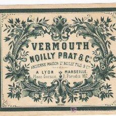 Etiquetas antiguas: VERMOUTH-NOILLY PRAT. Lote 24889474