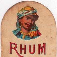 Etiquetas antiguas: ETIQUETA. RHUM. RON. VIEUX. . Lote 21243272