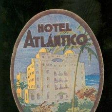 Etiquetas antiguas: ETIQUETA DE HOTEL ATLANTICO.. Lote 21529334