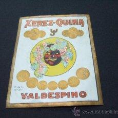 Etiquetas antiguas: ETIQUETA - XEREZ-QUINA - VALDESPINO - . Lote 21655425