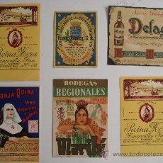 Etiquetas antiguas: ETIQUETAS DE VINOS. Lote 27493033