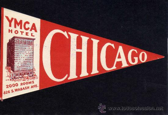 ETIQUETA HOTEL - YMCA HOTEL - CHICAGO - ESTADOS UNIDOS. (Coleccionismo - Etiquetas)