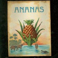 Etiquetas antiguas: ETIQUETA DE ANANAS.. Lote 22401966