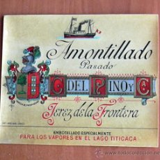 Etiquetas antiguas: ETIQUETA VINO AMONTILLADO. Lote 24405264