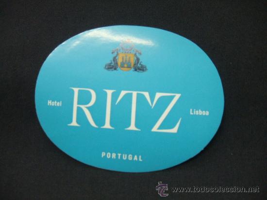 HOTEL RITZ - LISBOA - PORTUGAL - (Coleccionismo - Etiquetas)