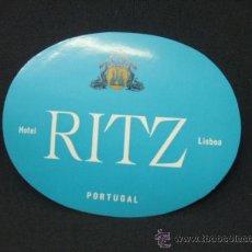 Etiquetas antiguas: HOTEL RITZ - LISBOA - PORTUGAL - . Lote 24001330