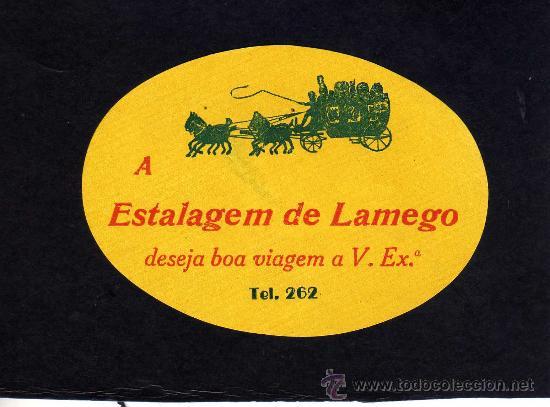 ETIQUETA HOTEL - ESTALAGEM DE LAMEGO - PORTUGAL. (Coleccionismo - Etiquetas)