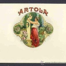Etiquetas antiguas: ETIQUETA DE TABACO MODERNISTA EN RELIEVE ARTOLA. ART NOUVEAU. Lote 24393360