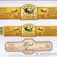 Etiquetas antiguas: ETIQUETAS ADHESIVAS DE MIEL. Lote 24422346