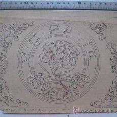 Etiquetas antiguas: M. C. PAVIA - SAGUNTO - AÑOS 1910-20 - ORIGINAL DE ETIQUETA DE NARANJA PINTADA A MANO. Lote 27346282