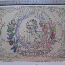 Etiquetas antiguas: SALVADOR CLARI, ALCIRA - AÑOS 1910-20 - ORIGINAL DE ETIQUETA DE NARANJA PINTADA A MANO. Lote 27346285