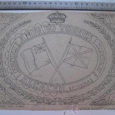 Etiquetas antiguas: AMPARO TORRES, ALCACER - AÑOS 1910-20 - ORIGINAL DE ETIQUETA DE NARANJA PINTADA A MANO. Lote 27346291