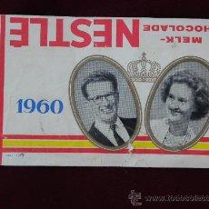 Etiquetas antiguas: FUNDA EMBOLTORIO CHOCOLATE NESLTLE BELGICA BODA REYES BALDUINO Y FAVIOLA 1960. Lote 26605328