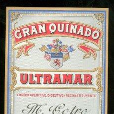 Etiquetas antiguas: ETIQUETA DE GRAN QUINADO. ULTRAMAR. M. COTRO. JEREZ DE LA FRONTERA.. Lote 24911020