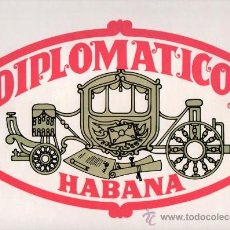 Etiquetas antiguas: ETIQUETA PEGATINA DE PUROS DIPLOMATICOS IDEAL PARA CUADROS. Lote 25572046