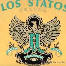 Etiquetas antiguas: ETIQUETA PEGATINA DE PUROS LOS STATOS DELUXE IDEAL PARA CUADROS. Lote 25572139