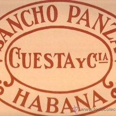 Etiquetas antiguas: ETIQUETA PEGATINA DE PUROS SANCHO PANZA IDEAL PARA CUADROS. Lote 25572147