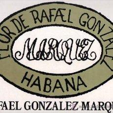 Etiquetas antiguas: ETIQUETA PEGATINA DE PUROS FLOR DE RAFAEL GONZALEZ MARQUEZ IDEAL PARA CUADROS. Lote 25572197