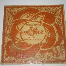 Etiquetas antiguas: PUBLICIDAD/ETIQUETA... MARECHAL. Lote 25949868