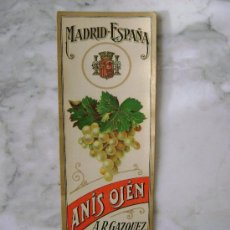 Etiquetas antiguas: ETIQUETA .ANIS OJEN.E.091. Lote 194868326