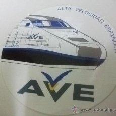 Etiquetas antiguas: + AVE ANTIGUA PEGATINA DEL AÑO 1992. DIAMETRO 10 CM FERROCARRIL TREN RENFE. Lote 26280037
