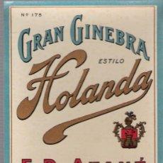 Alte Etiketten - Gran Ginebra estilo holanda. Atané. Jerez. - 26568478