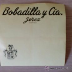 Etiquetas antiguas: ETIQUETA DE VINO. BOBADILLA Y CIA. JEREZ.. Lote 26997204