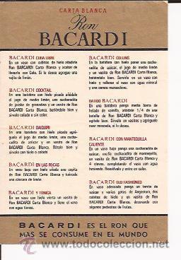 ETIQUETA DE RON BACARDI CARTA BLANCA (Coleccionismo - Etiquetas)