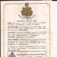 Etiquetas antiguas: ETIQUETA DE JEREZ PEDRO DOMECQ. Lote 179145300