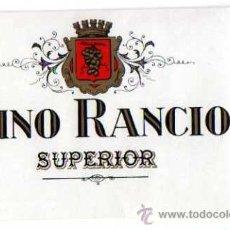 Etiquetas antiguas: ETIQUETA VINO RANCIO SUPRIOR.. Lote 28479523