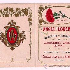 Etiquetas antiguas: ANTIGUA TARIFA DE PRECIOS DE EL CLAVEL.. Lote 28653551