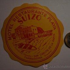Etiquetas antiguas: 449 HOTEL SUIZO SAN CARLOS DE LA RAPITA TARRAGONA - ESPAÑA ETIQUETA HOTEL - MIRA MAS EN MI TIENDA. Lote 28866530