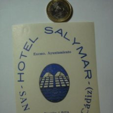 Etiquetas antiguas: 463 HOTEL SALYMAR SAN FERNANDO CADIZ - ESPAÑA ETIQUETA HOTEL - MIIRA MAS EN MI TIENDA. Lote 28866664